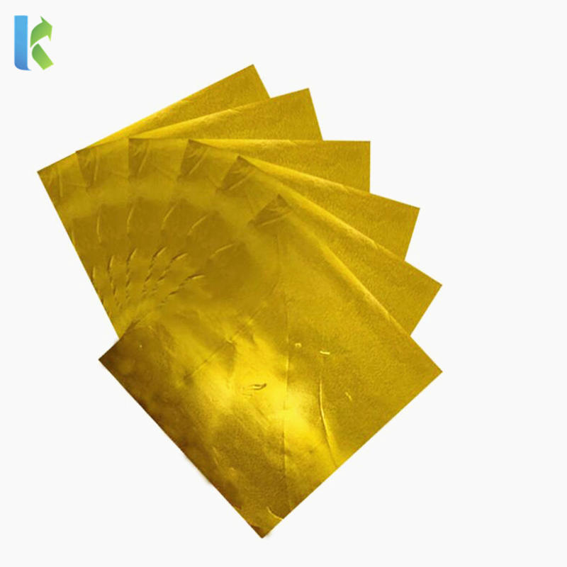Food Grade Gold Square Aluminum Foil Paper Sheet Chocolate Wrapping Paper Foil