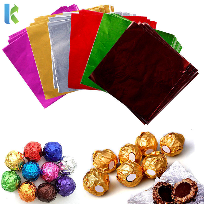 kolysen custom printed gold color chocolate wrapping foil