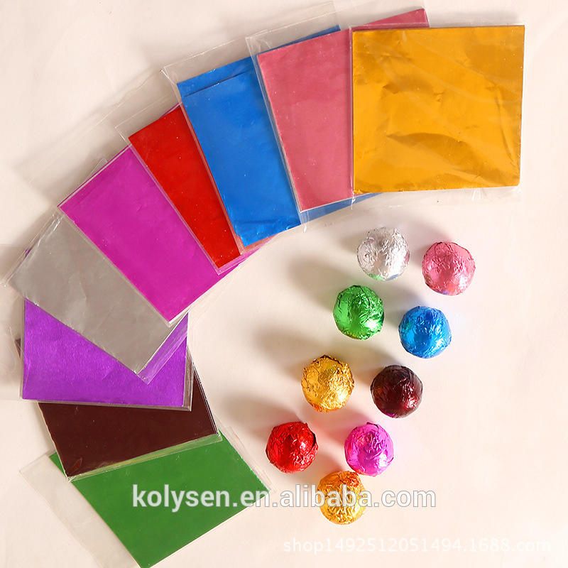 colorful aluminium foil wrapping paper /chocolate packing paper