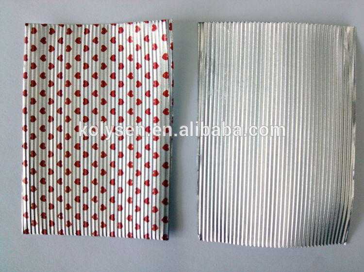 Custom printed corrugated chocolate aluminium foil
