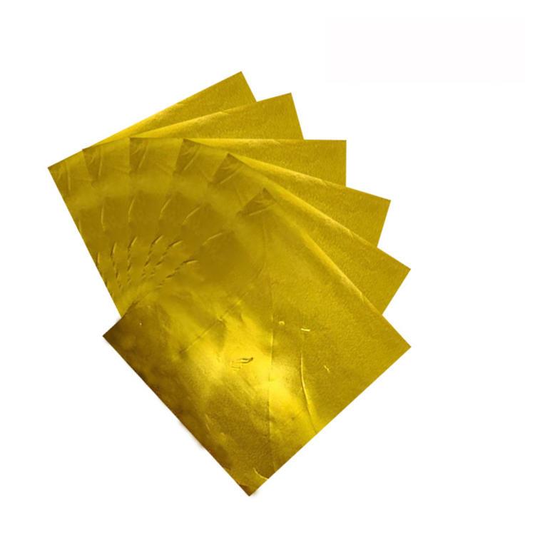 Food grade aluminium gold foil for chocolate coin