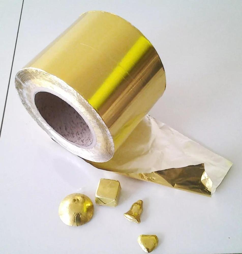 Foil Aluminio Para Chocolates Dorado