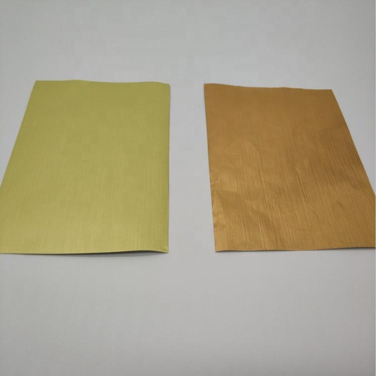 golden color aluminum foil paper for chocolate packaging