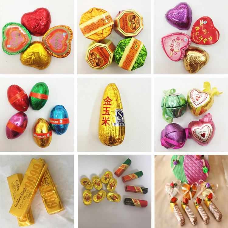 Custom Printed Chocolate Wrapping Foil Chocolate Coins Candy Packaging Easter Eggs Chocolate Bar for Christmas Soft