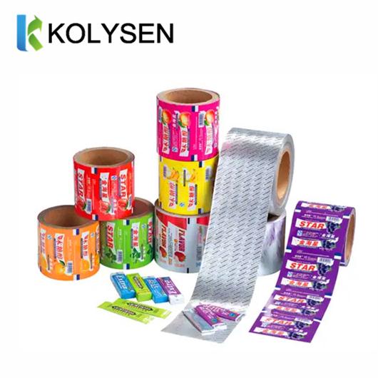Custom Aluminum Foil Paper for chewing gum packing