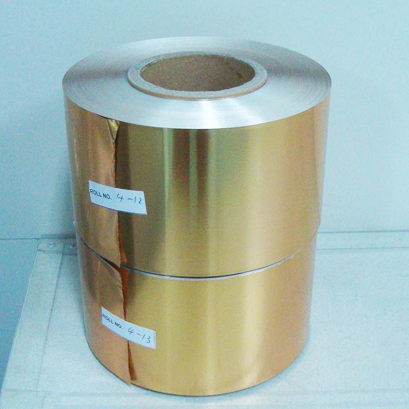 Golden coin chocolates packaging aluminum foil