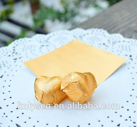 chocolate candy aluminum foil wax laminated paper wrapper