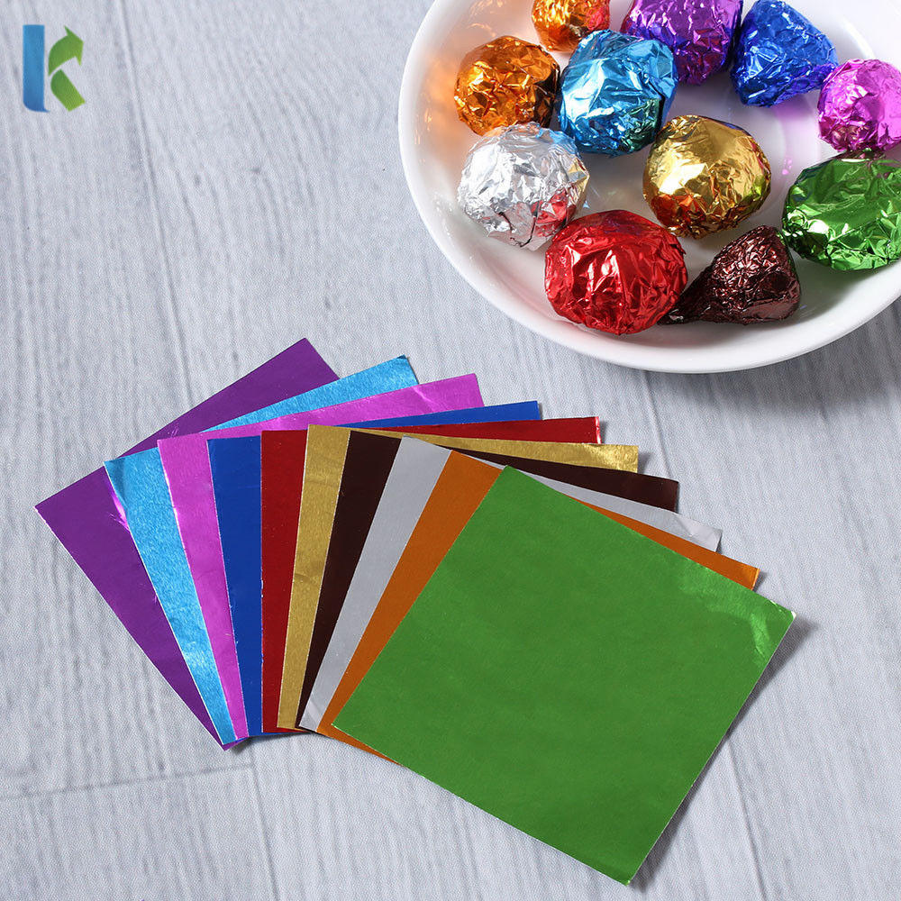 Food Grade Candy Chocolate Ball Foil Wrapping Paper Wholesale Custom Colorful Aluminum Foil Soft