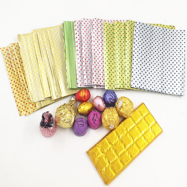 Custom Print Packaging Paper Aluminum Foil Paper for Candy Chewing Gum Chocolate Wrapper