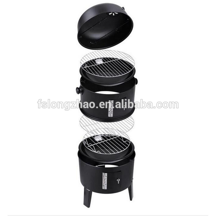 Charcoal barbecue grill smoker heavy duty bbq grill smoker