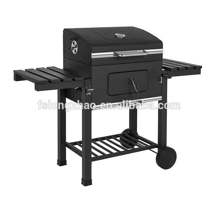 Smokeless large bbq charcoal grill smoker box