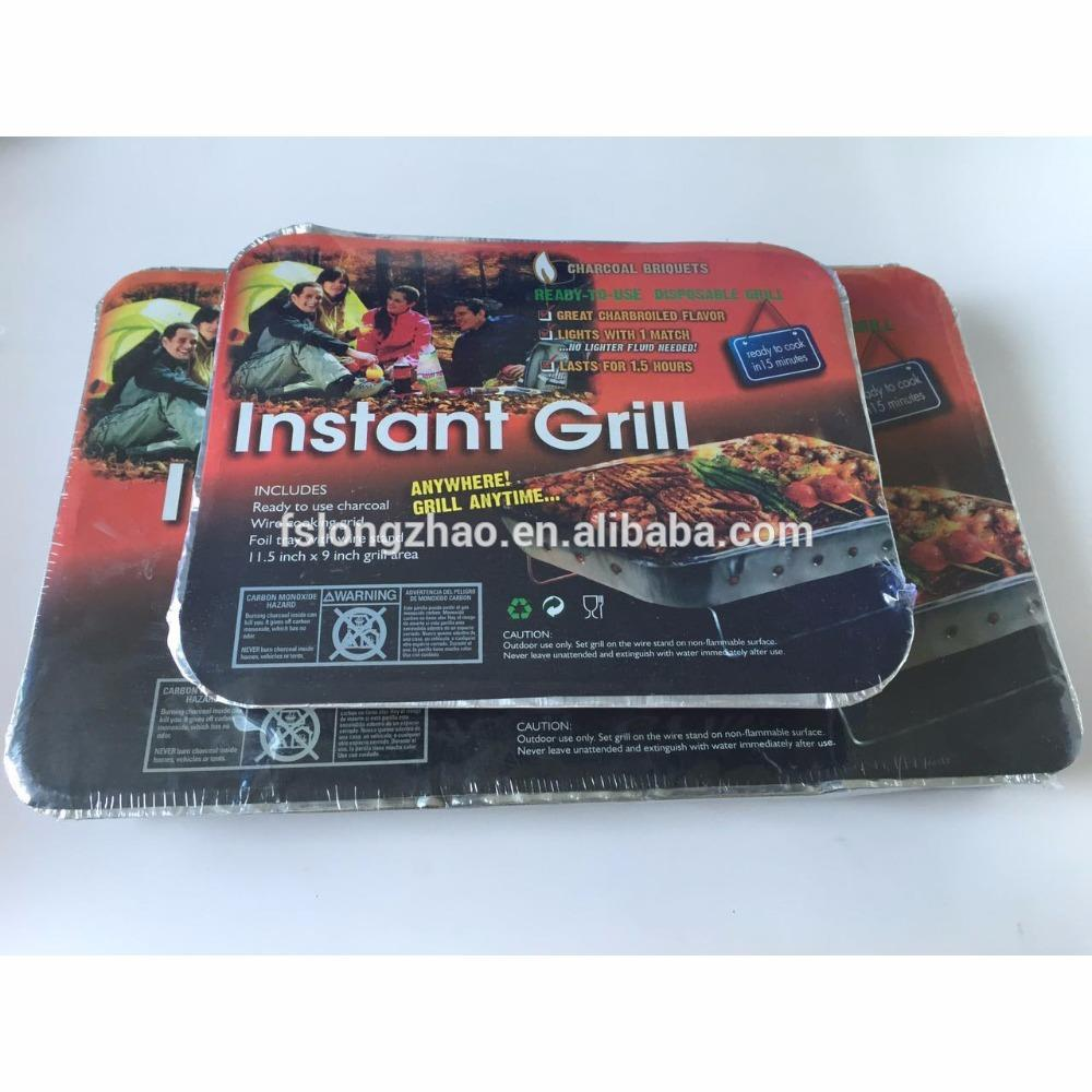 Home or outdoor one time use mini charcoal bbq grill disposable