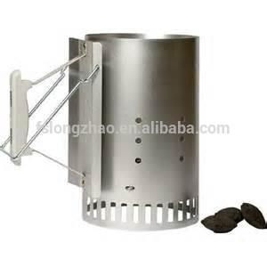 Two sturdy handles Chimney charcoal starter portable folding grill