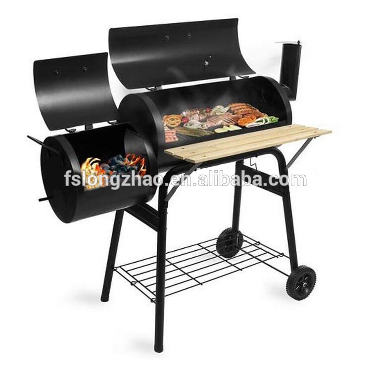 Delux portable smoker european wood pellet bbq grill