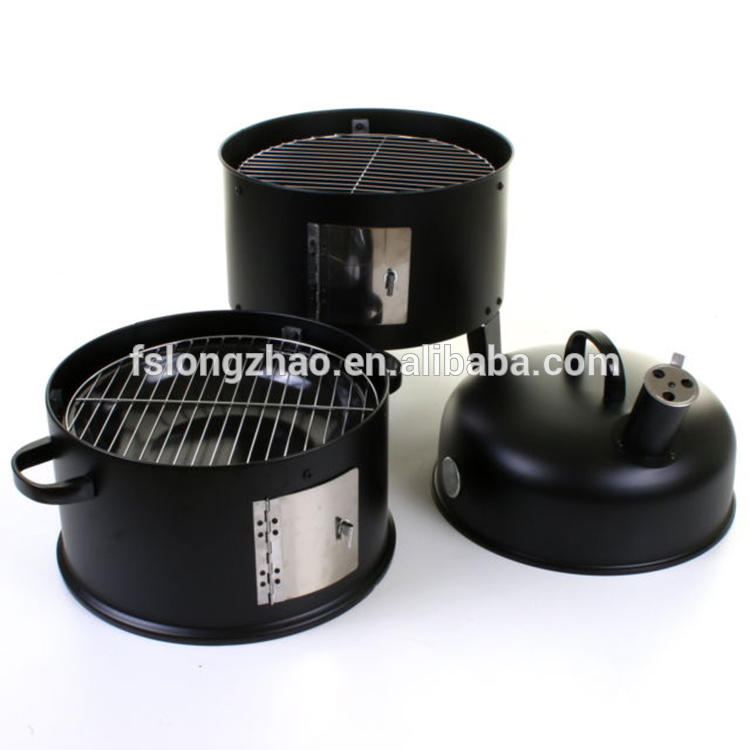 3 layers outdoor living charcoal barbecue grill bbq grill smoker