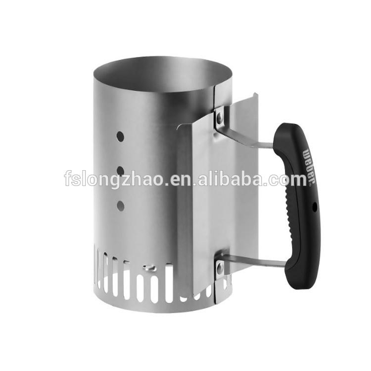 Foldable design bbq chimney charcoal starter