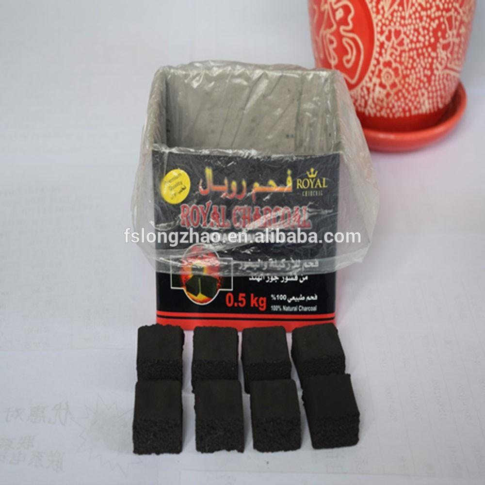Smokeless square bamboo hookah royal charcoal for shisha