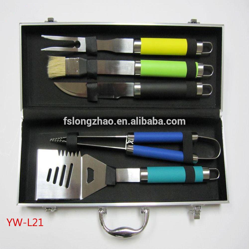 deluxe 17pcs bbq tools in aluminium case bbq tool set, bbq kit, bbq grill