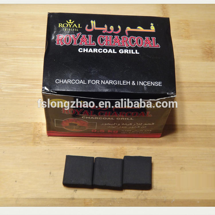 Easy-ignited square cube coconut wholesale hookah charcoal