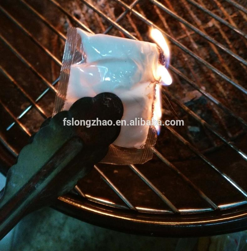 Quick paraffin fire starter
