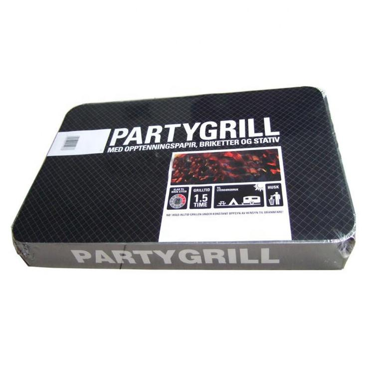 500g/1000g Aluminum Tray Disposable Instant Charcoal Grill BBQ for Sale