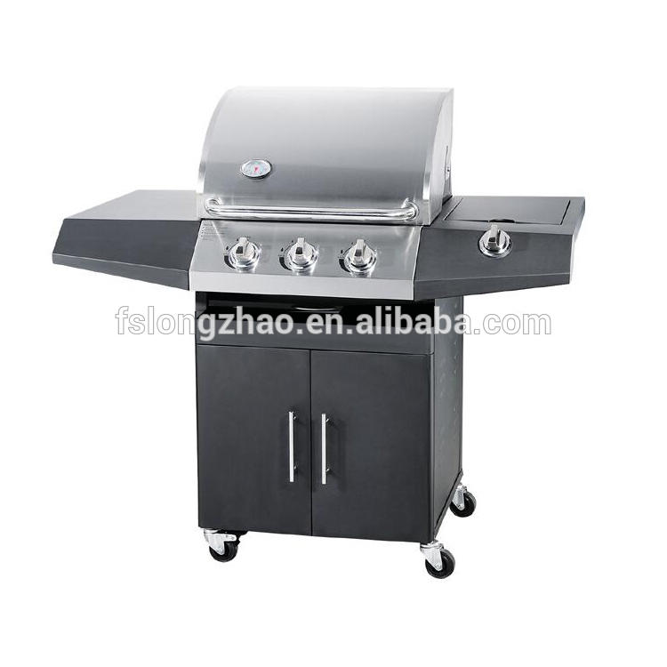 2020 Cord rolled steel 4+1 burners indoor butane bbq gas grill