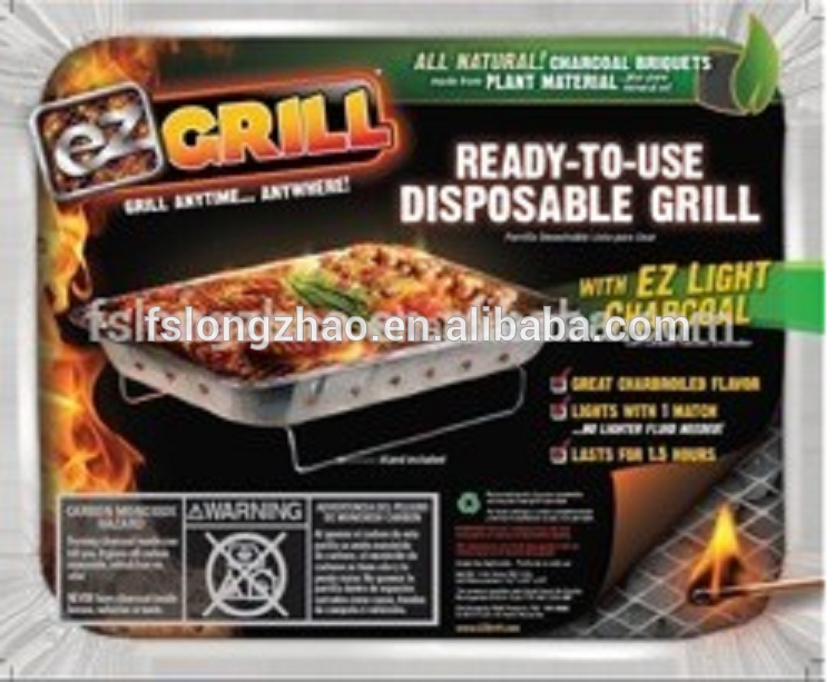 600g disposable camping bbq grill