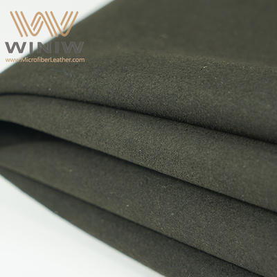 China Supplier of Faux Leather Black Suede Fabric