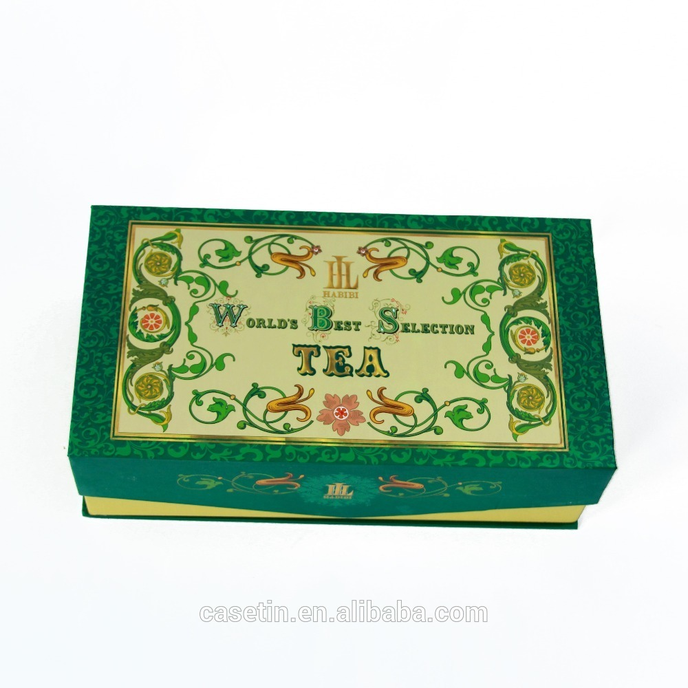Book Shape Tea Tin Box