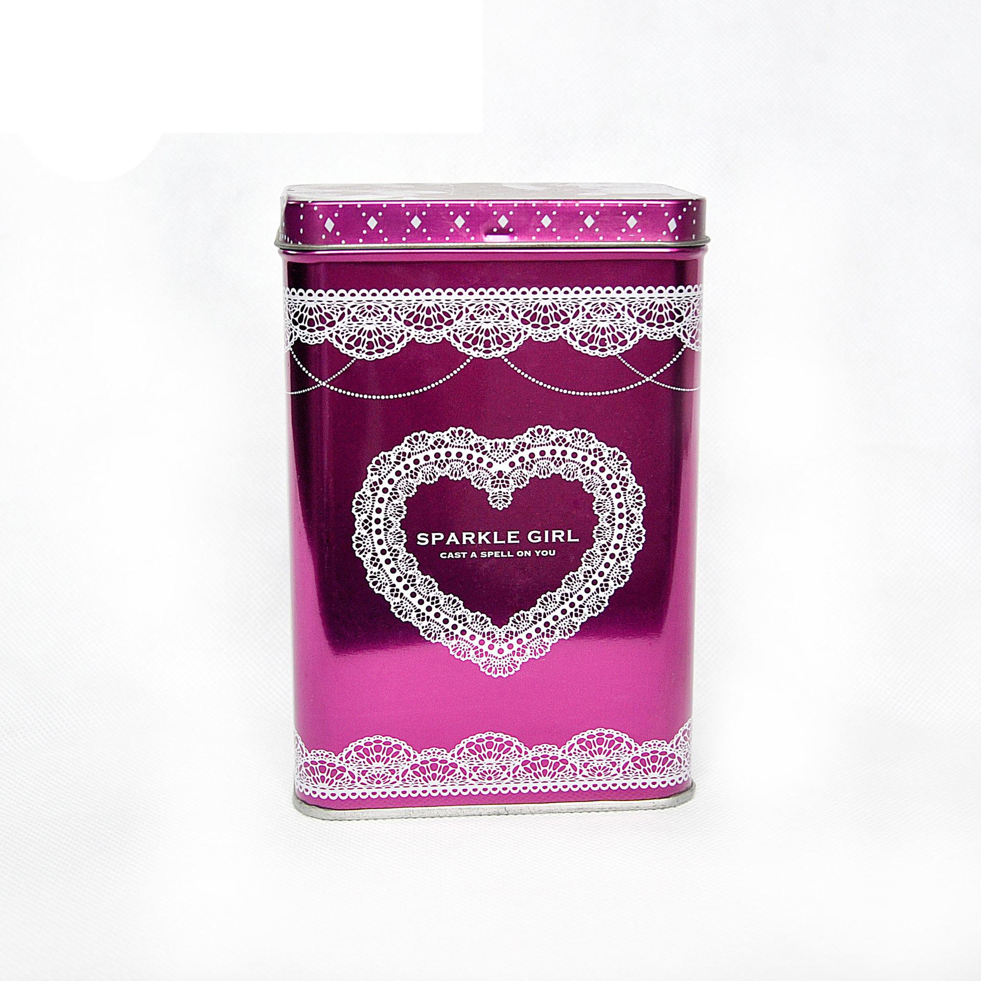 Rectangle Small Storage Jars Metal Gift Jewelry Box Tin Home Coin Candy Organizer holder Tea tin box