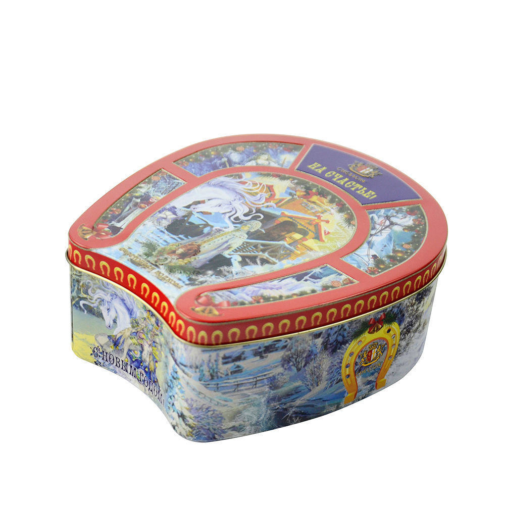 Irregular Tin Box Jar Tea Candy Jewelry Coin Storage Container Case Candle Sealed Cans Holder Wedding Favor Gift