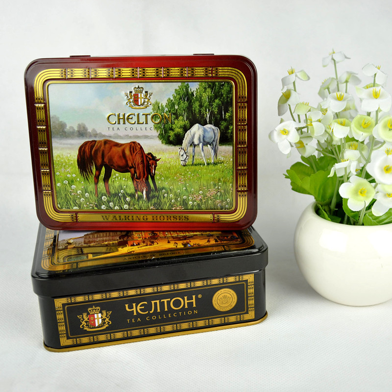 Cool easy open small metal tin with hinged lid