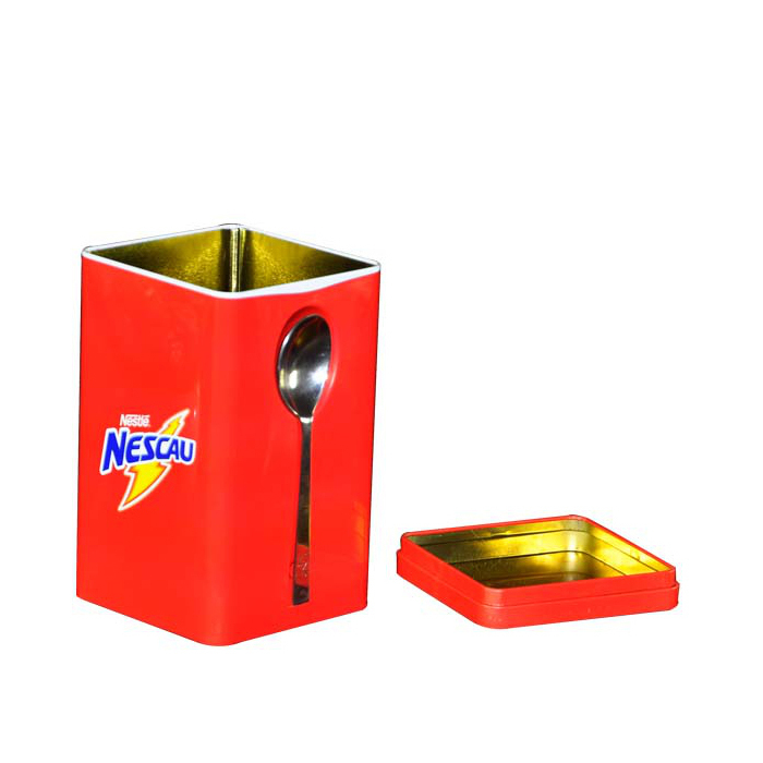 Metal Tea Cans High-grade Tinplate Coffee Candy Storage Box Tin Can