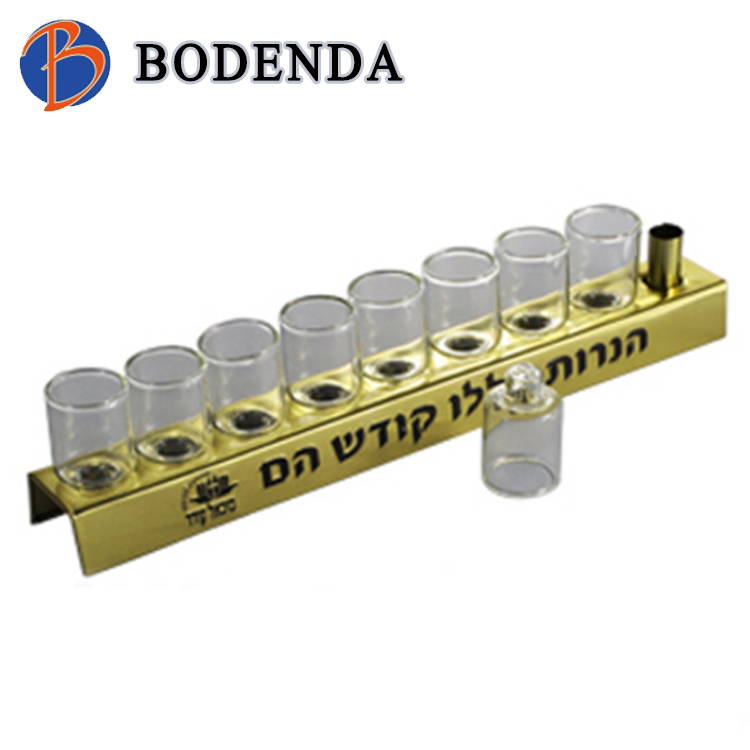 Fashion Cheap inflatable menorah candle holder tin box