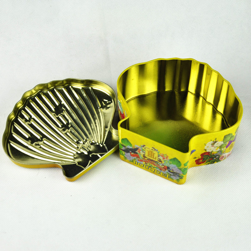 Biscuit Tea Coffee Candy Packing Box Seashell Shape Jewelry Necklace Bracelet Storage Organizer Box Case