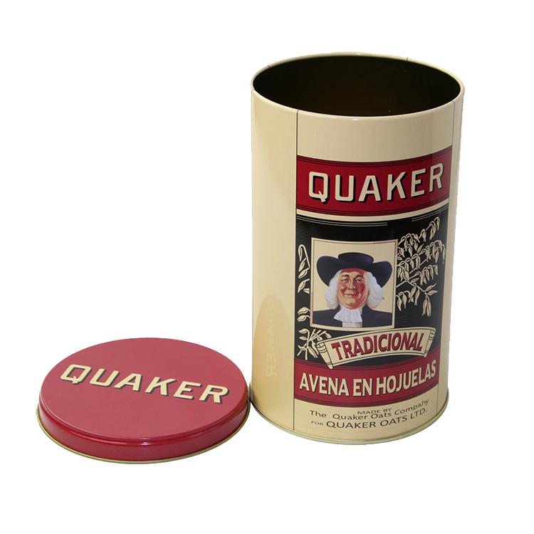 Bodenda food grade tin coffee cans customized printing tin caseround tin box