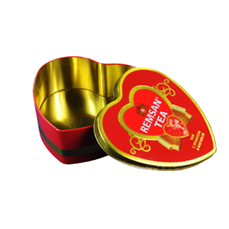 Bodenda hot sale factory priceheart shape wedding gift chocolate packing tinbox metal candypacking cantea caddies