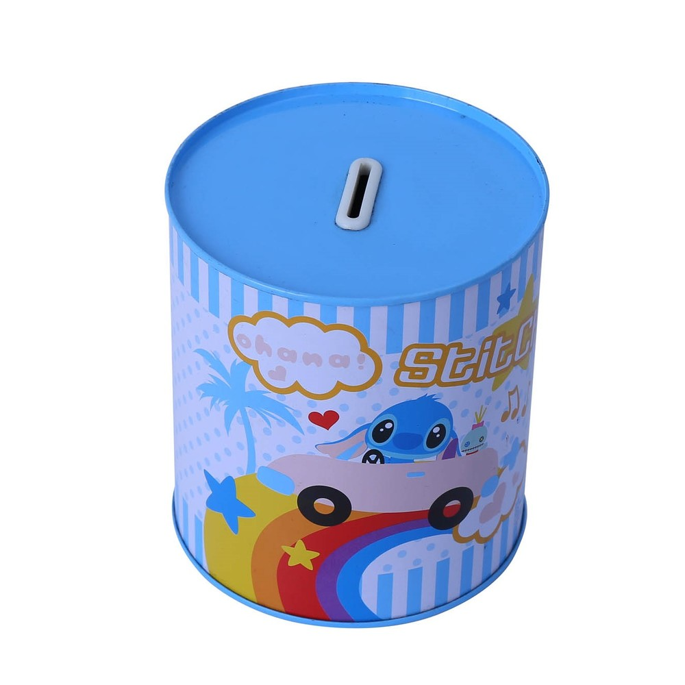High quality tin metalpiggy bank coin money saving box for children