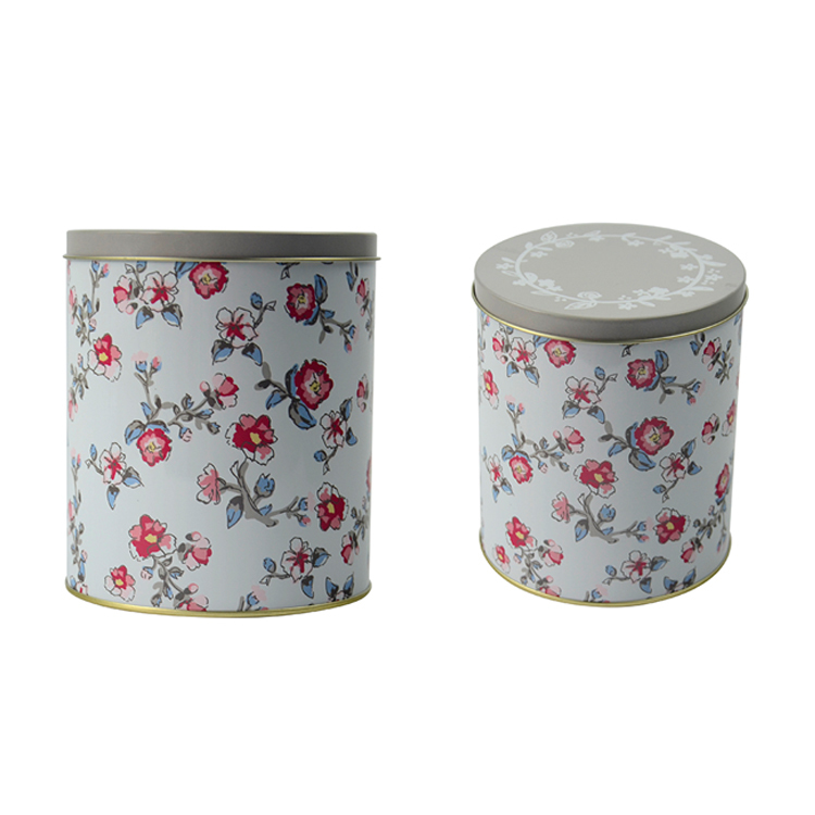 Metal Floral Coffee Tea Sugar Candy Container Jar Can Tin Storage Box Kitchen Home Decor Home Accessories