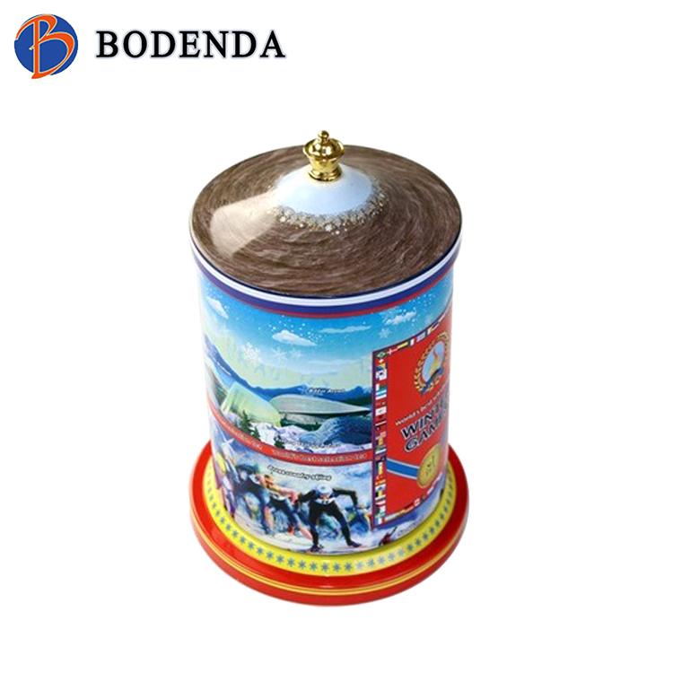 hot sale custom metal tin music box with hand cranked