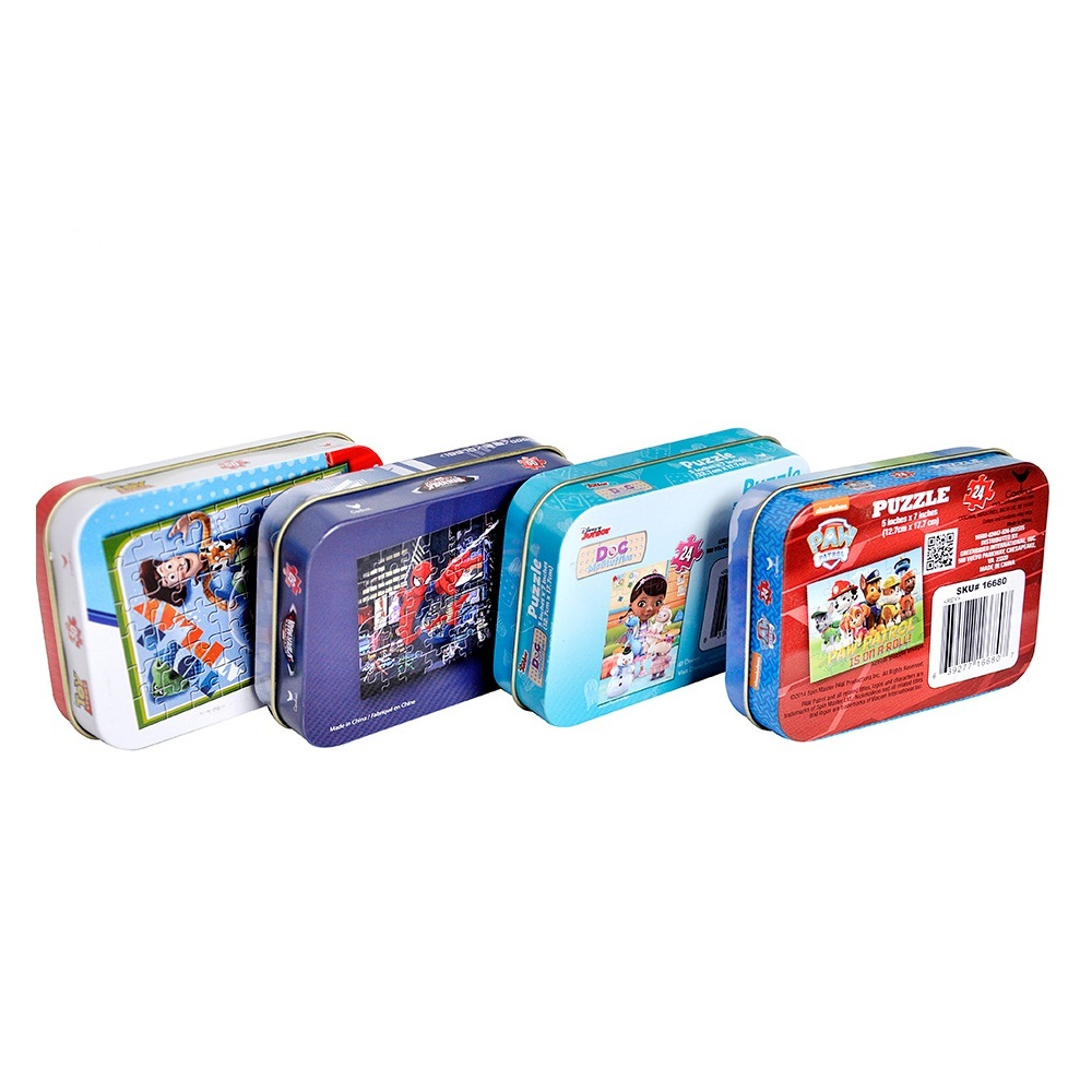 Lovely Cartoon Embossed Chocolate Candy Sweet Tin Box For Kids