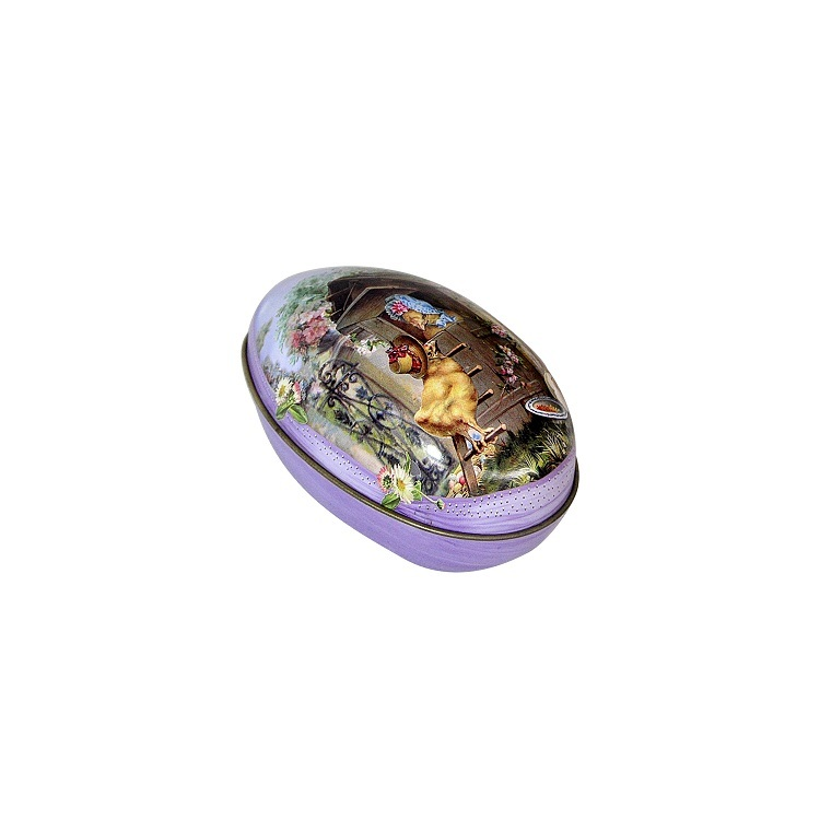 Easter Egg Painted Eggshel Tin Boxes Case Wedding Candy Can Jewelry Party Accessory Iron Trinket Gift packing box