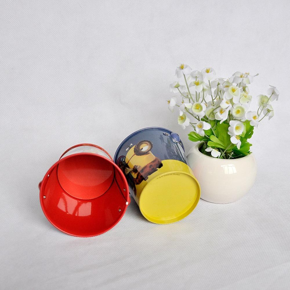 christmas tin buckets , decorative tin bucket , popcorn tin bucket