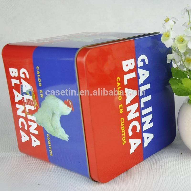 metal square tin can for powder milk