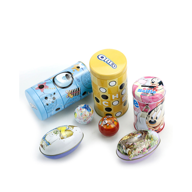 Bodenda new design 3-layer tin packaging chocolatebox candy empty tin cans