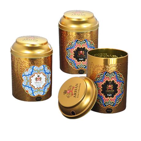 Mini Tin Tea Storage Box Round Metal Case Wedding Favor Organizer Container Tea Packing box