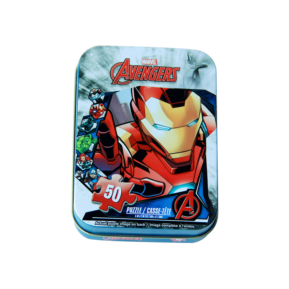 CustomManufacturing tin case Kids Lunch Tin boxes with handle