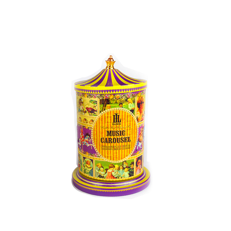 Bodenda High quality carousel music cookie tin box with factory price