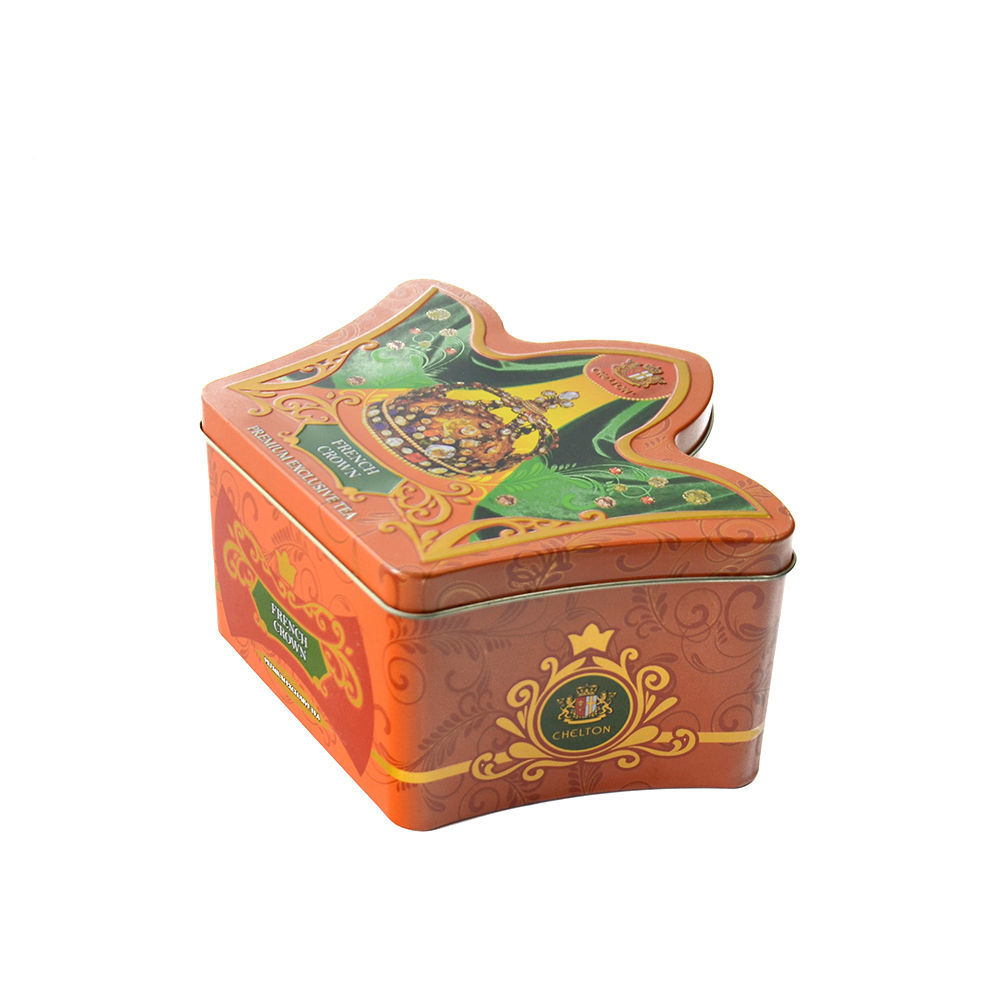 Tinplate crown Shaped Candy tin Box with Lid wedding gifts box Food Biscuit Candy Coffee Packing metal box