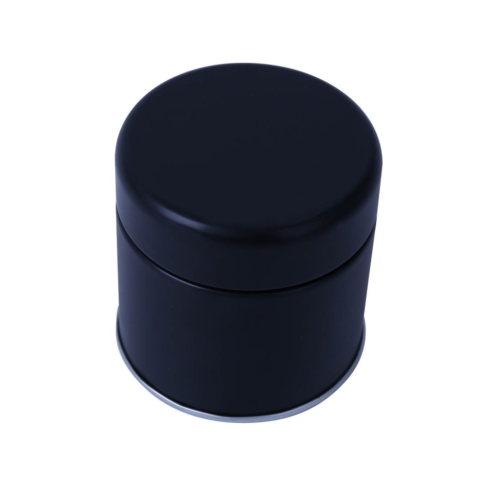 Customized Printing metal tin giftpackaging boxes food grade round shaped food can black tea canister